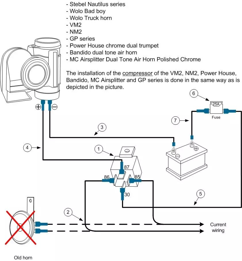 wiring diagram for car air horns  u2013 wirdig  u2013 readingrat net