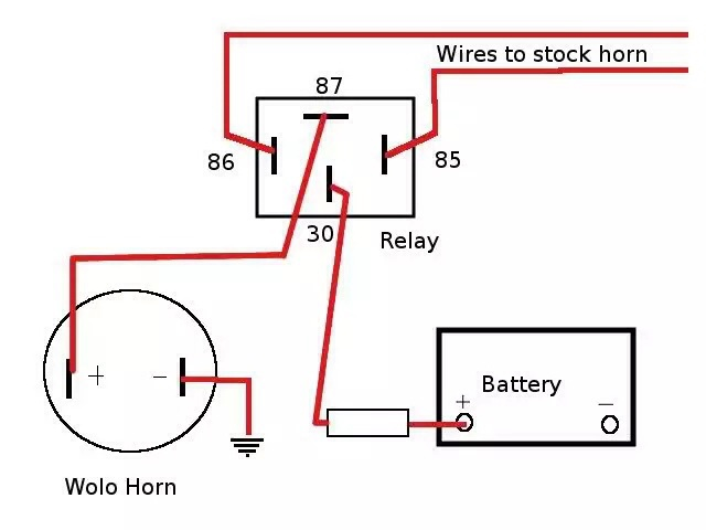 horn wiring diagram for motorcycle horn wiring diagram for 1996 gmc jimmy loud horns save lives - bmw ninet forum